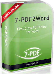 PDF to Word online: Edit PDF files safely with Word | 7-PDF