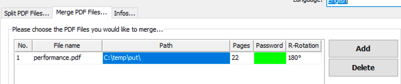 Rotate all pages of a single PDF when merging